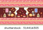 beautiful print for fabric with ... | Shutterstock .eps vector #514416505