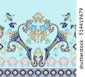 seamless paisley vector pattern.... | Shutterstock .eps vector #514419679
