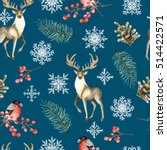 seamless christmas pattern with ...   Shutterstock . vector #514422571