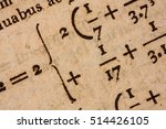 closeup of a yellowed page with ... | Shutterstock . vector #514426105
