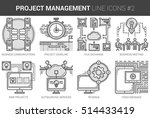 project management infographic... | Shutterstock .eps vector #514433419