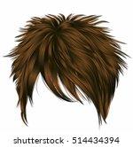 trendy  woman short  hairs ... | Shutterstock .eps vector #514434394