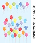 balloons color set | Shutterstock .eps vector #514439281