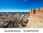 Small photo of View of Almeria old town and port from the castle (Alcazaba of Almeria), Spain
