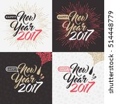 happy new year 2017 card | Shutterstock .eps vector #514448779