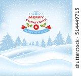 illustration christmas winter... | Shutterstock .eps vector #514449715