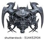 metallic skull design isolated... | Shutterstock . vector #514452934