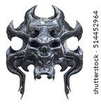 metallic skull design isolated... | Shutterstock . vector #514452964