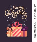 merry christmas vector greeting ... | Shutterstock .eps vector #514458019