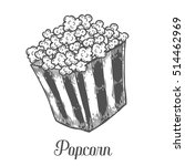 popcorn vector hand drawn... | Shutterstock .eps vector #514462969