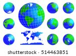 vector globe icons showing...   Shutterstock .eps vector #514463851