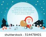 merry christmas  santa claus...   Shutterstock .eps vector #514478401