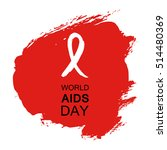 hand drawn red aids hiv ribbon  ... | Shutterstock .eps vector #514480369