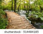rainy day and wooden tourist... | Shutterstock . vector #514484185