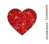 red glitter heart | Shutterstock .eps vector #514494991