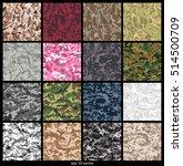 set of seamless digital...   Shutterstock .eps vector #514500709