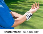 golfer wrist pain during the... | Shutterstock . vector #514501489