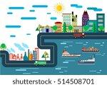 city scheme design factories... | Shutterstock .eps vector #514508701