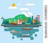 industrial design elements port ... | Shutterstock .eps vector #514508821