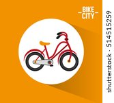 bike city and healthy lifestyle ... | Shutterstock .eps vector #514515259