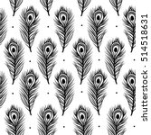 peacock feathers  seamless... | Shutterstock .eps vector #514518631