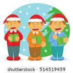 men choir singing for christmas | Shutterstock .eps vector #514519459