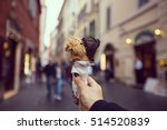 gelato ice cream cone sweet... | Shutterstock . vector #514520839