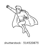 super hero power man cartoon... | Shutterstock .eps vector #514520875
