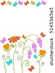 flowers in the form of hearts... | Shutterstock .eps vector #514536565