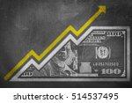a money bill drawn on a chalk... | Shutterstock . vector #514537495