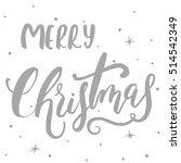 merry christmas lettering...   Shutterstock .eps vector #514542349