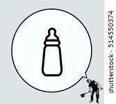 baby bottle icon  vector... | Shutterstock .eps vector #514550374