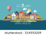 cityscape. urban landscape.... | Shutterstock .eps vector #514553209
