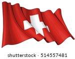 vector illustration of a waving ... | Shutterstock .eps vector #514557481
