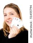 poker girl | Shutterstock . vector #51455794