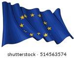 vector illustration of a waving ... | Shutterstock .eps vector #514563574