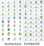logo mega collection  abstract... | Shutterstock . vector #514566205
