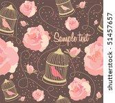 floral summer composition.... | Shutterstock .eps vector #51457657