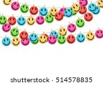 smile face  colorful card.... | Shutterstock .eps vector #514578835