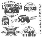 set of off road car for emblems ... | Shutterstock .eps vector #514582765