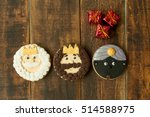 delicious christmas cookies a... | Shutterstock . vector #514588975