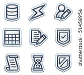 database web icons  deep blue... | Shutterstock .eps vector #51458956
