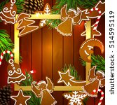christmas. gingerbread... | Shutterstock .eps vector #514595119