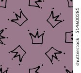 seamless pattern with crowns.... | Shutterstock .eps vector #514600285