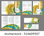 set of color brochure template... | Shutterstock .eps vector #514609507