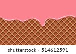 cream melted on chocolate wafer ... | Shutterstock .eps vector #514612591