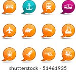 transport set of round glossy... | Shutterstock .eps vector #51461935