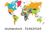 world map  europe  asia  north... | Shutterstock .eps vector #514624165
