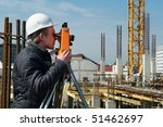 worker surveyor measuring... | Shutterstock . vector #51462697