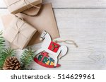 christmas background. holiday...   Shutterstock . vector #514629961